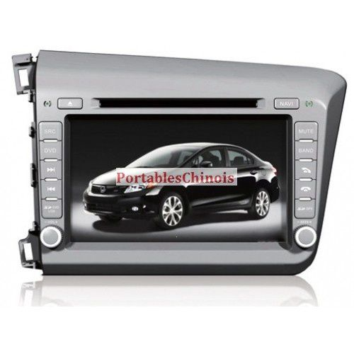 autoradio honda civic 2012 gps dvd usb sd rds tnt pas cher achat autoradio autoradio gps pas. Black Bedroom Furniture Sets. Home Design Ideas
