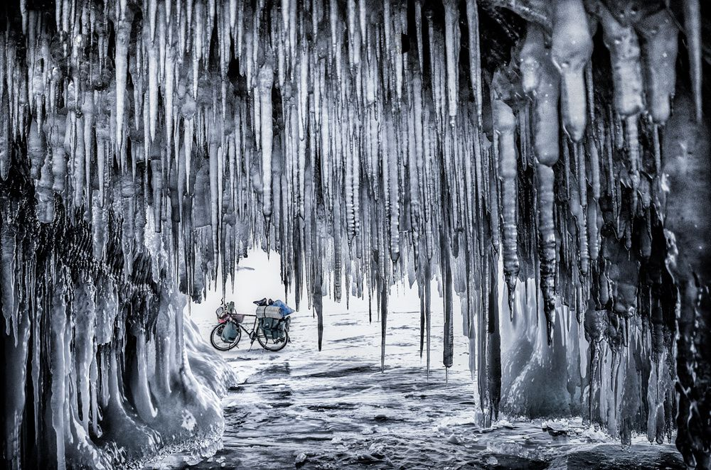 Jakub Rybicki/www.tpoty.com On an 800km bicycle journey across Baikal Lake, Ogoy Island, Russia