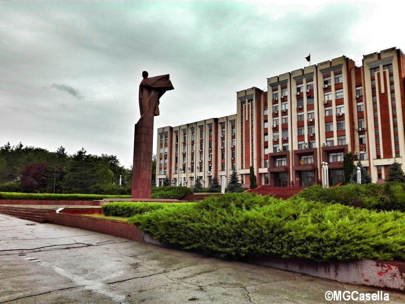 La statua di Lenin a Tiraspol