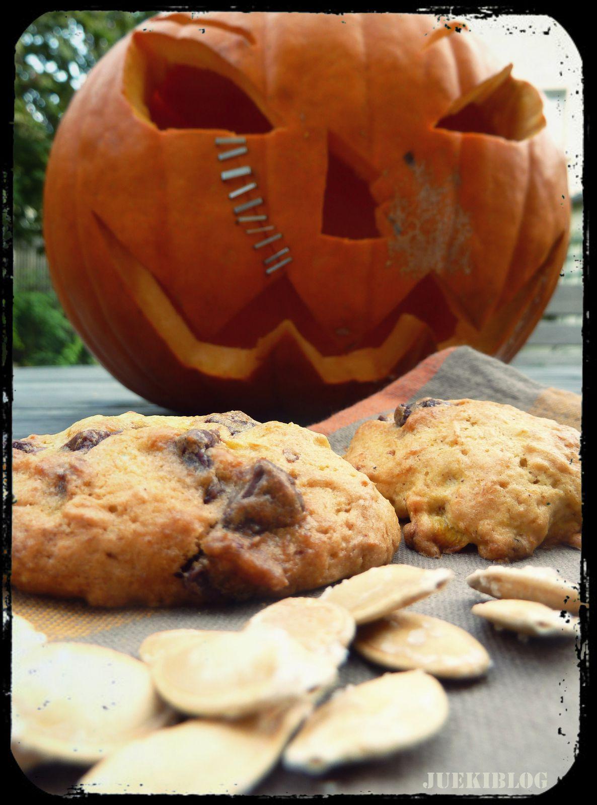 Cookies citrouillés et graines grillées: