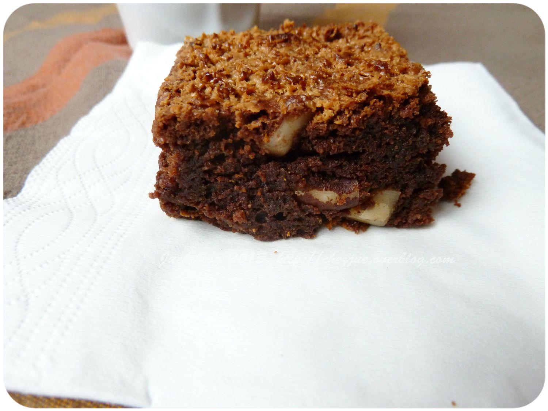 Brownie chocolat et noix d'Amazonie.