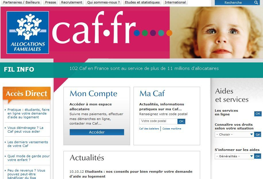 Compte Caf Metz