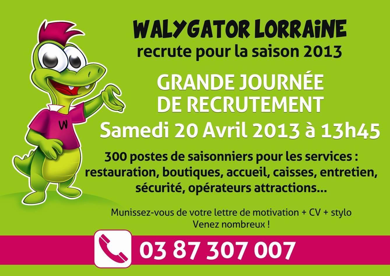Walygator Lorraine : journée de Recrutement le 20 avril 2013