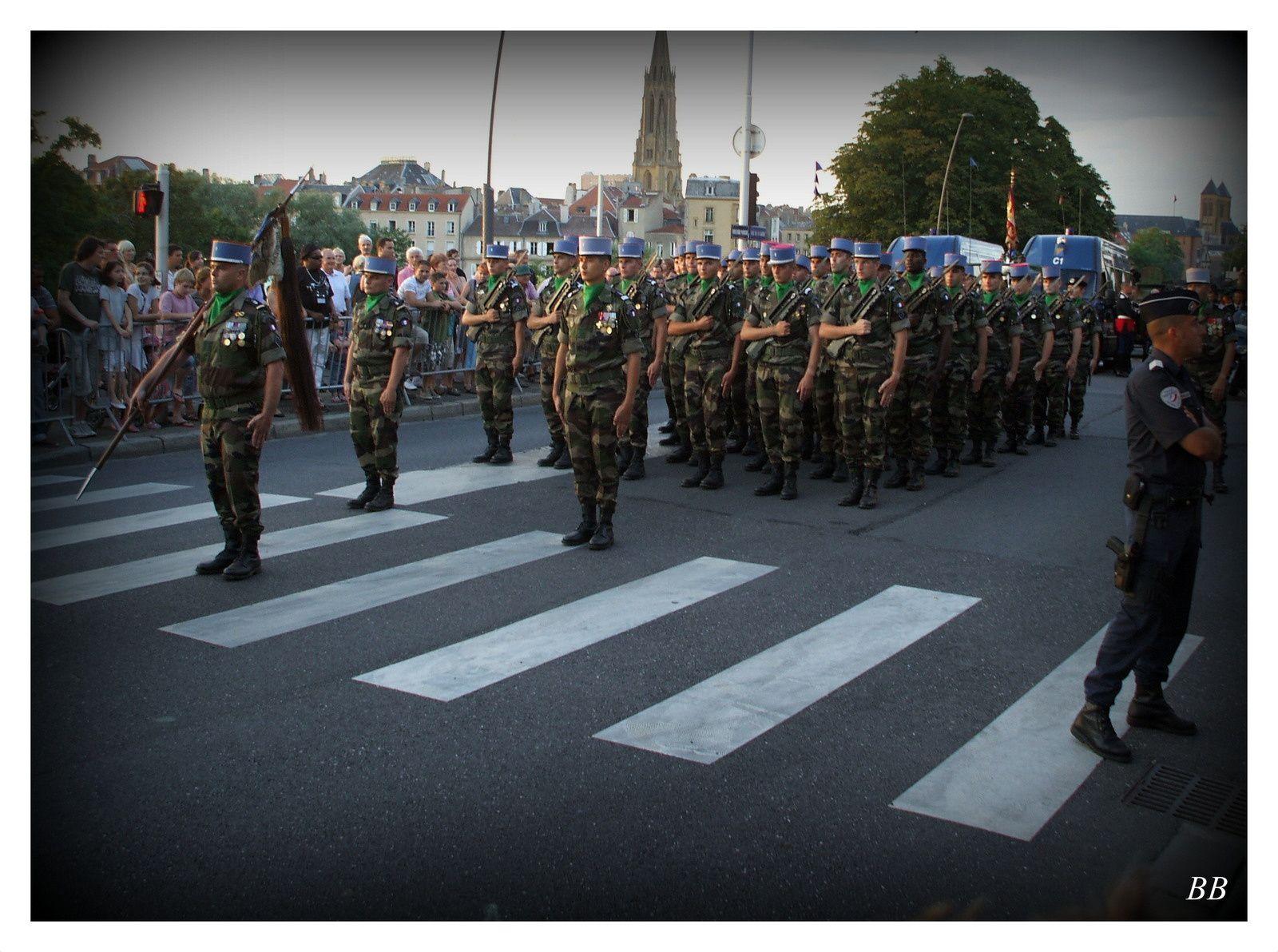 Metz :  Cérémonie de la fête nationale le 13 juillet