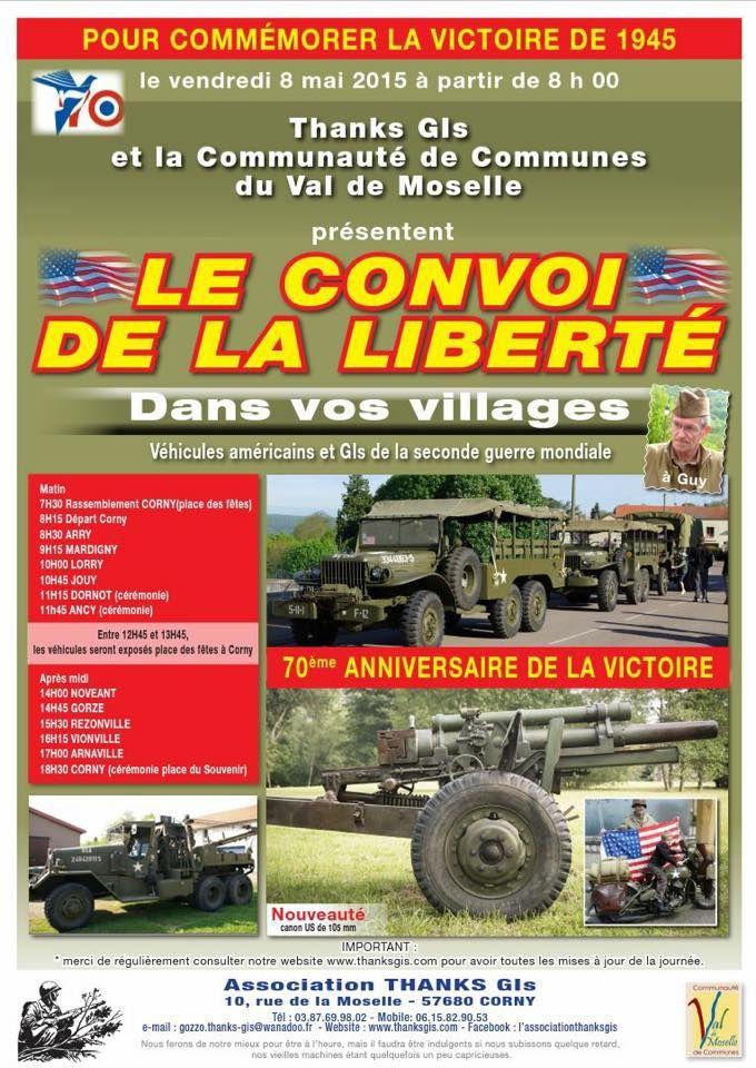 Val de Moselle Le Convoi de la Liberté dans vos villages  le 8 mai 2015