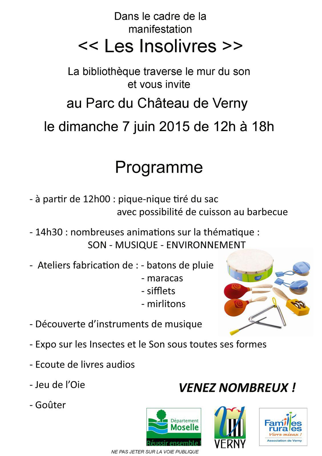 Verny Insolivres dimanche 7 juin 2015