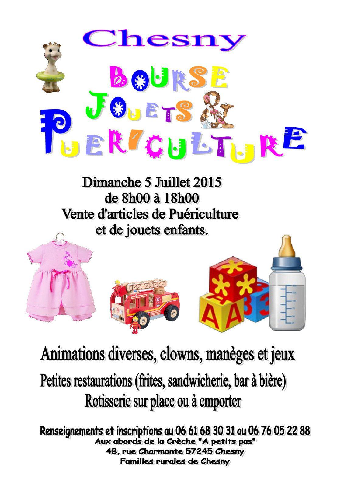 Chesny Bourse jouets puériculture dimanche 5 juillet