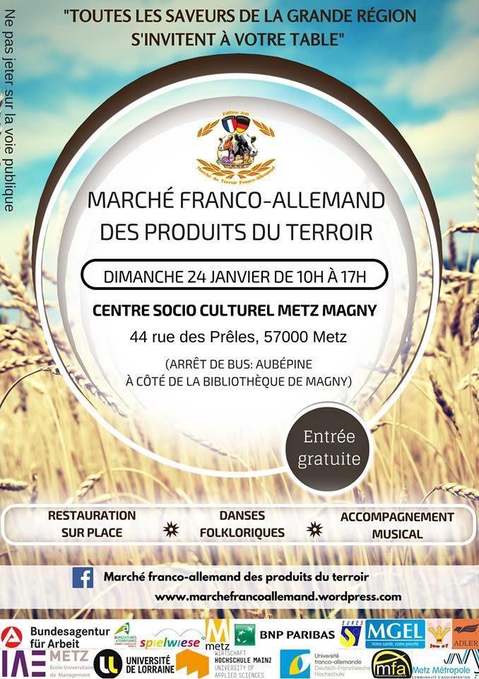Metz Marché franco-allemand des produits du terroir  le dimanche 24 Janvier
