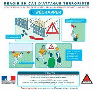 Campagne vidéo de sensibilisation du grand public : &quot&#x3B;comment réagir en cas d'attaque terroriste ?