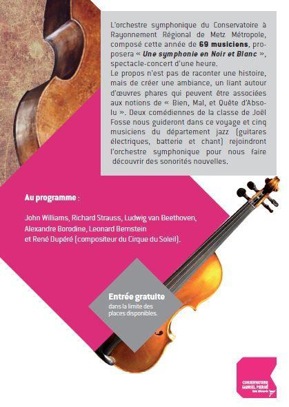Jury représentation de l'orchestre symphonique du Conservatoire au complexe sportif Val Saint Pierre le 20 mars 2016