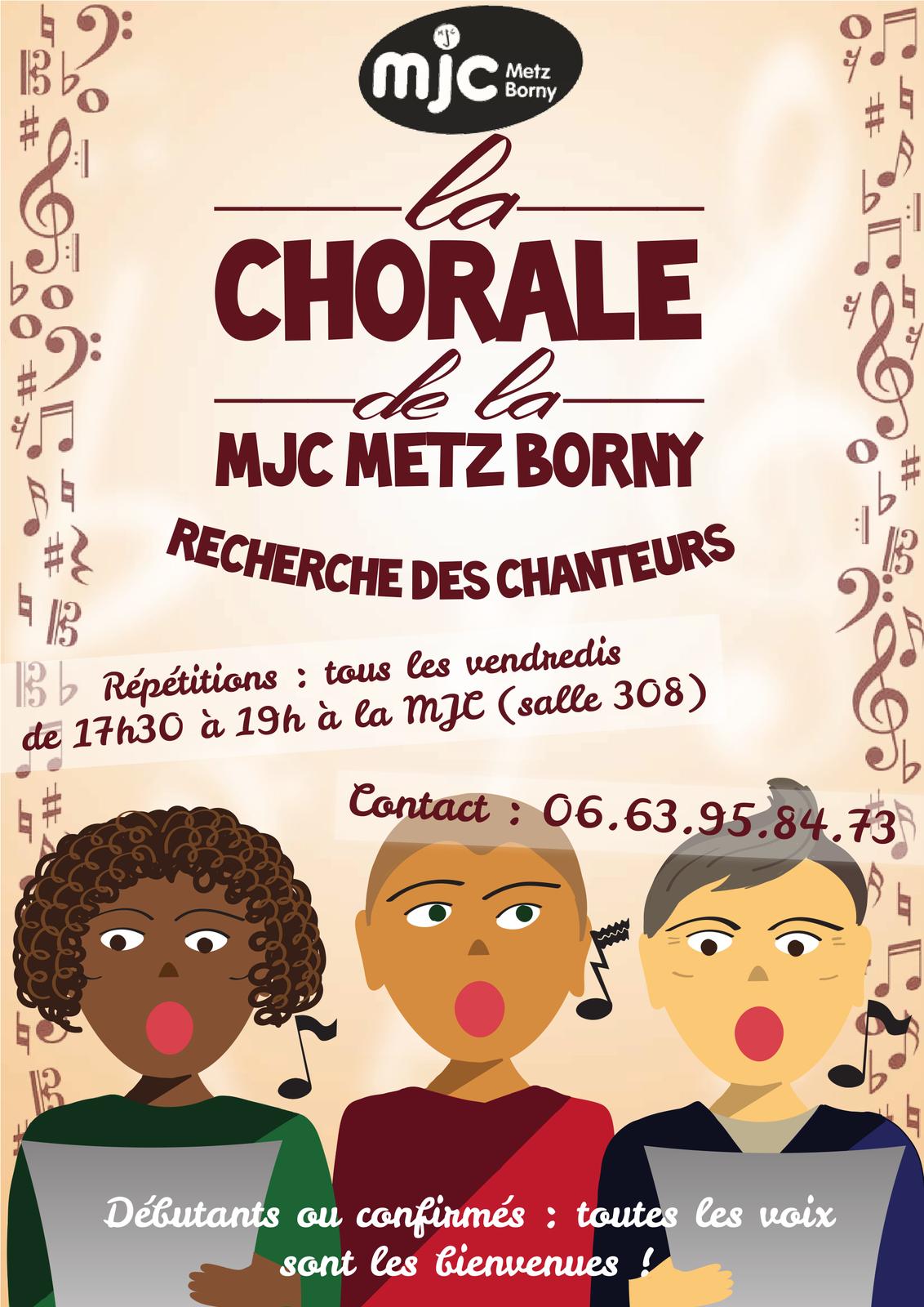 La chorale de la MJC de METZ BORNY recherche des chanteurs