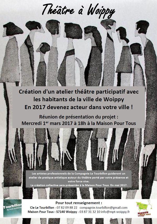 Woippy Création d'un atelier théâtre participatif avec les habitants de la ville