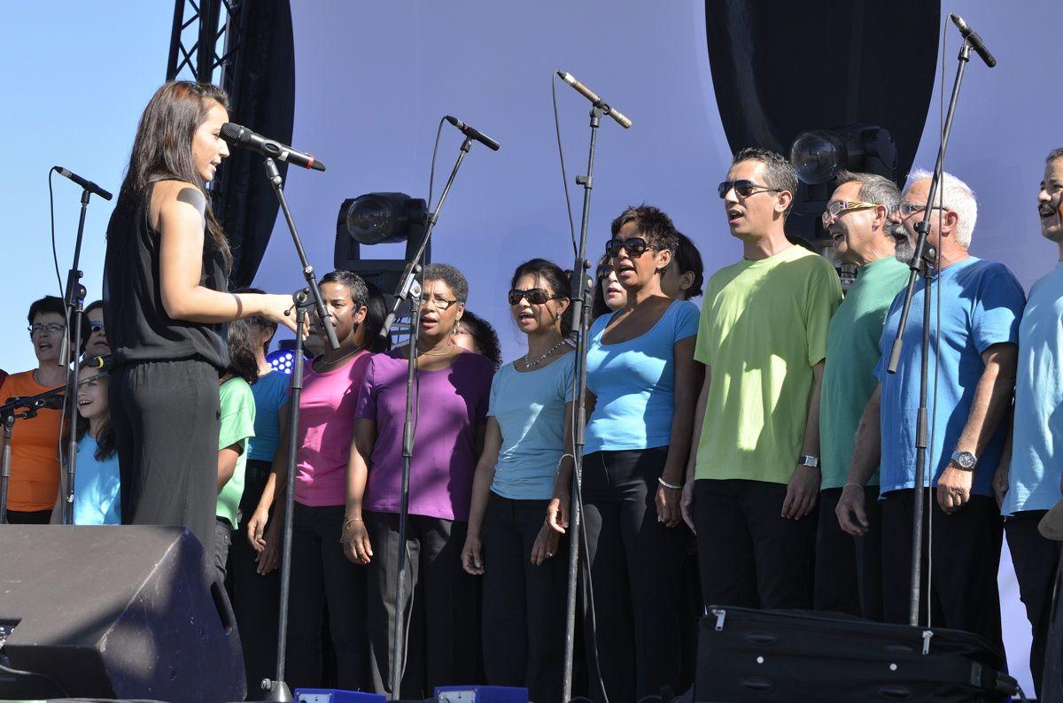 la chorale a chanté à St Pierre pour le TELETHON 2011&#x3B; pour l'occasion, elle a eu droit à un petit passage en direct sur France 2