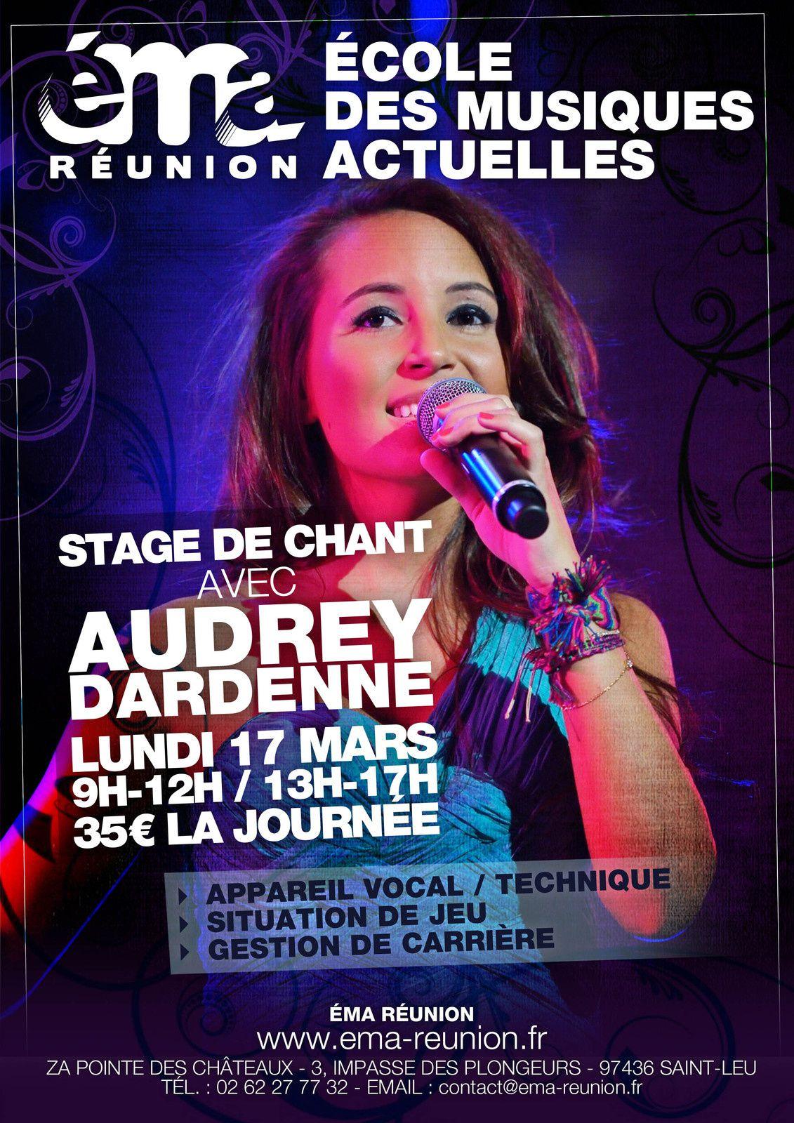 Stage de chant avec Audrey le lundi 17 mars