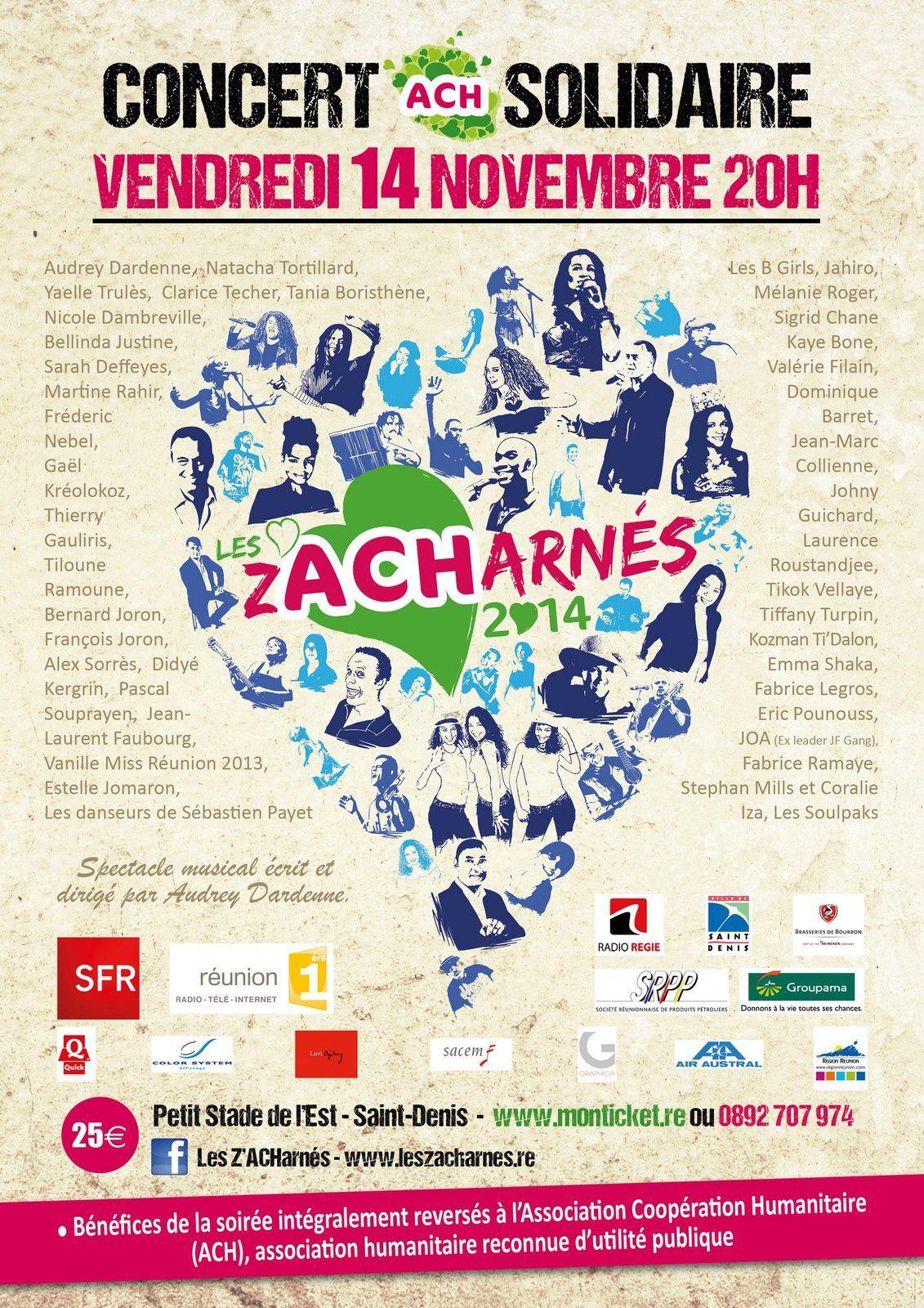 Concert les Zacharnés le 14 novembre