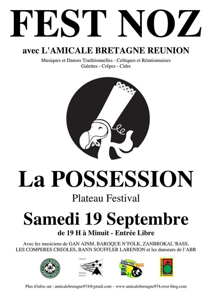 FEST NOZ le 19 septembre à La Possession