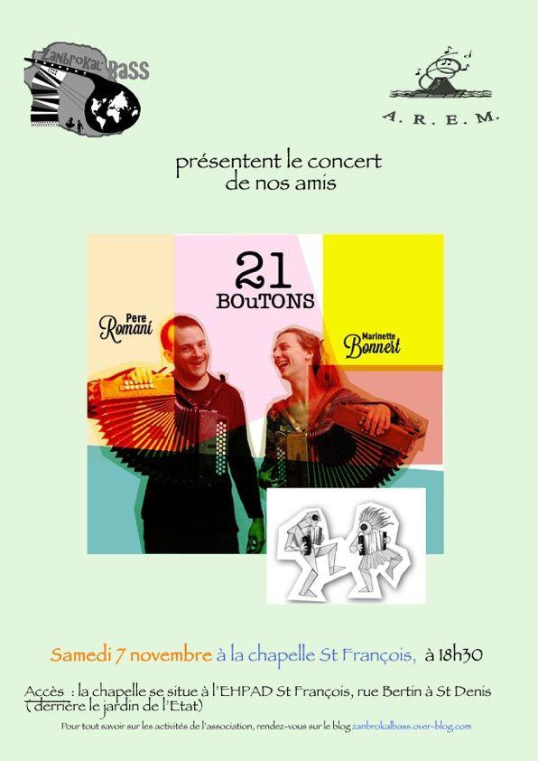 21 Boutons + 1: le concert du 7 novembre
