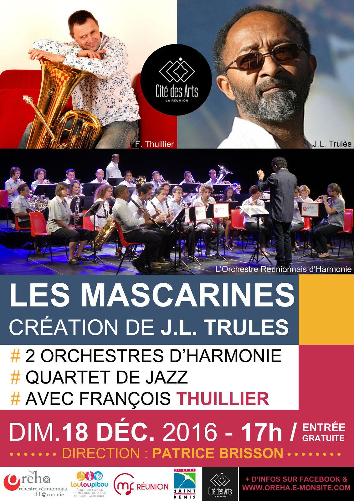 Concert LES MASCARINES dimanche 18 décembre