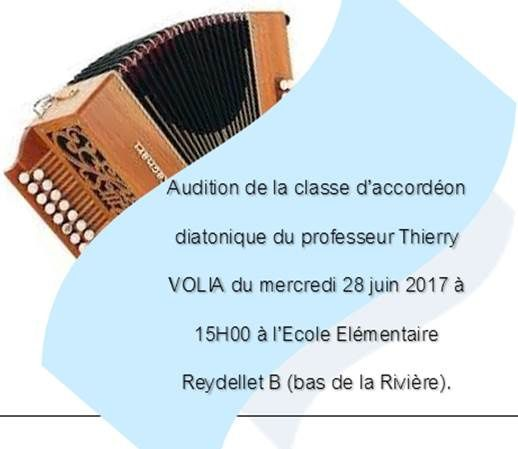 AUDITION ACCORDEON : CHANGEMENT D'HEURE