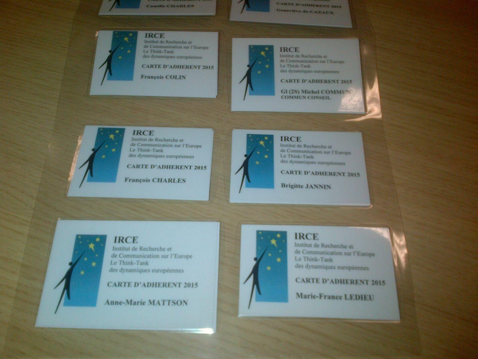 Avez-vous votre carte de membre de l'IRCE ?