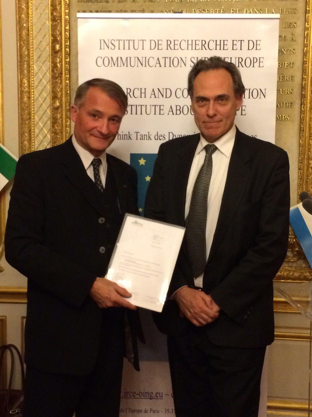 17 février 2016 - DINER I.R.C.E. au Sénat avec S.E. M. Hakki AKI, Ambassadeur de Turquie à Paris sur le thème : LA TURQUIE ET L'INTEGRATION EUROPENNE