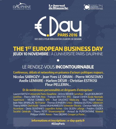 A l'E-DAY du 10 NOVEMBRE : LE PRESIDENT DE L'IRCE PARMI DE NOMBREUSES PERSONNALITES