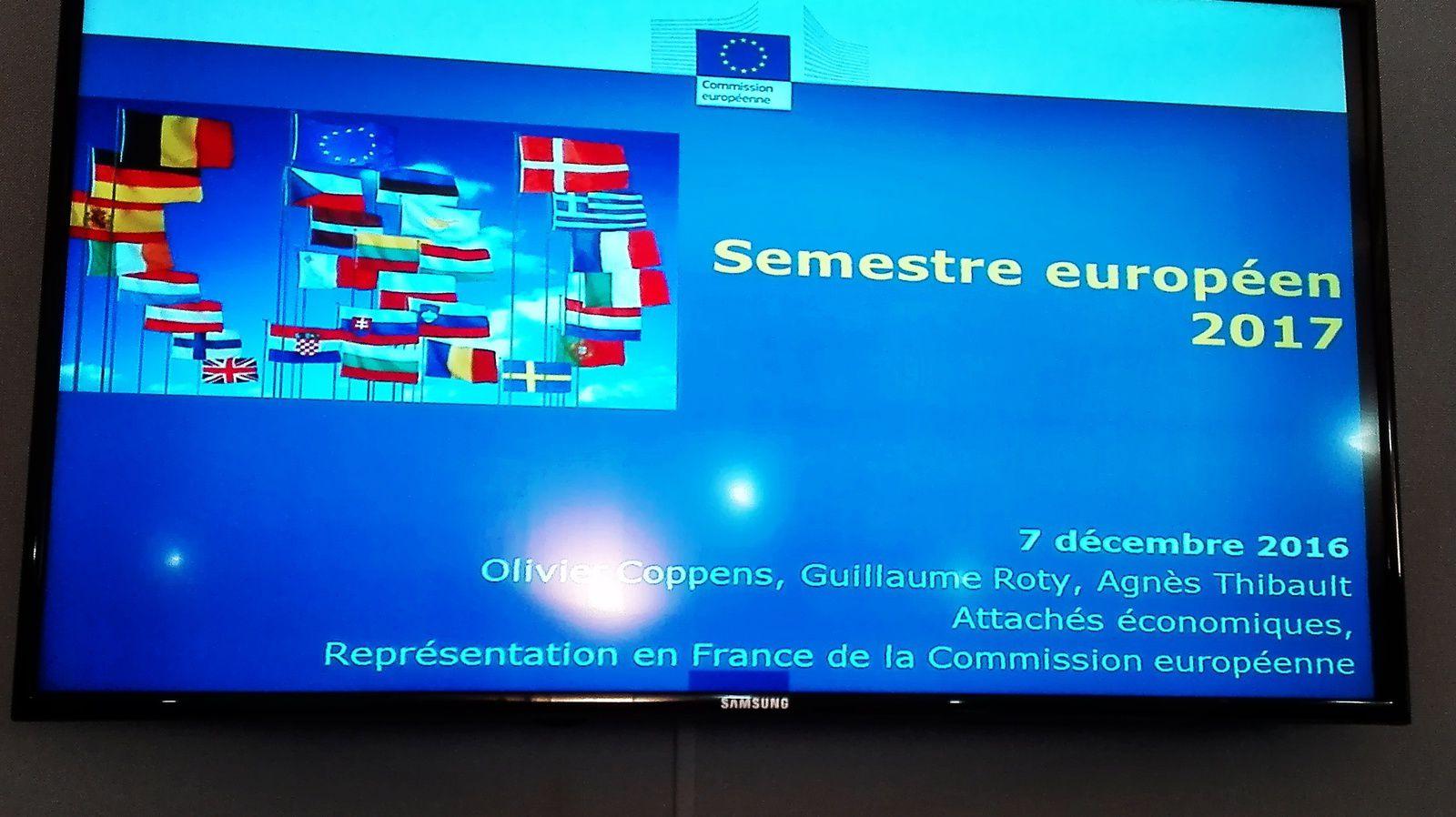 SEMESTRE ECONOMIQUE 2017 : LA COMMISSION EUROPEENNE RETIENT NOTRE PROPOSITION DE TROIS GROUPES AU SEIN DE LA ZONE EURO