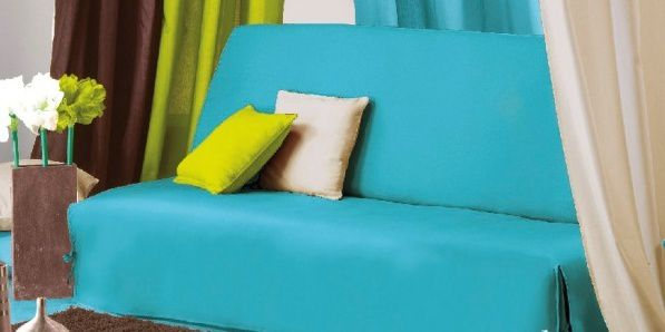 canap bleu turquoise cheap canap tissu places scandinave. Black Bedroom Furniture Sets. Home Design Ideas