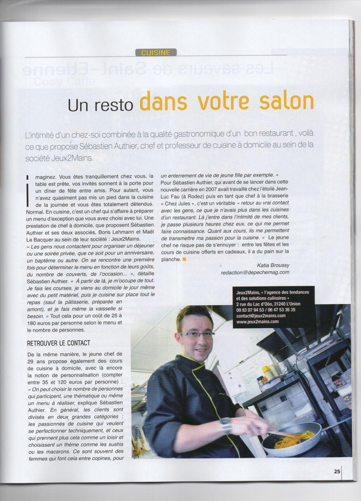 Sebastien Authier, à l'honneur dans Toulouse Gourmet