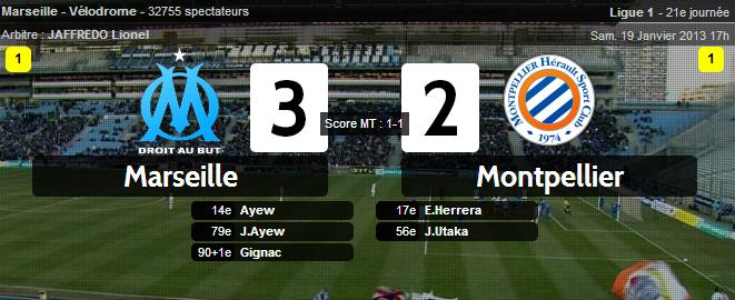Marseille 3-2 Montpellier : Gignac sauve l'OM sur le fil !