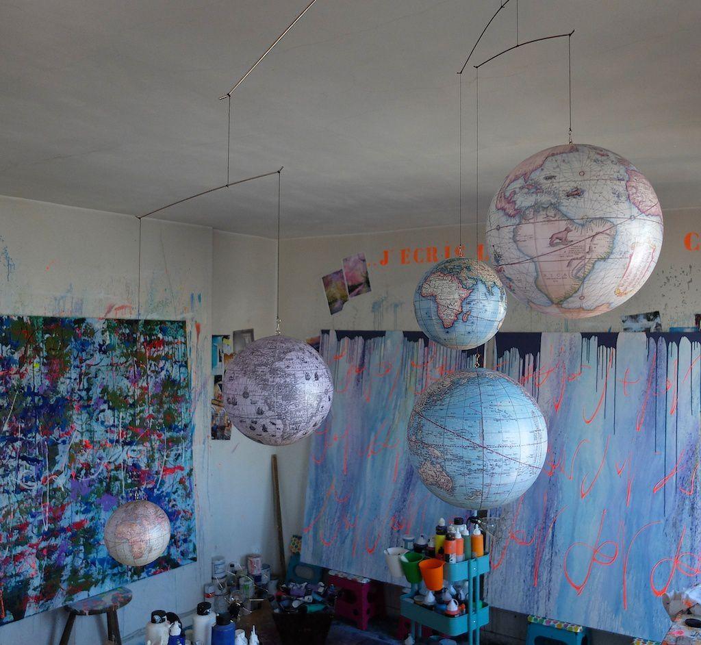 l'atelier de peinture -chris claisse.