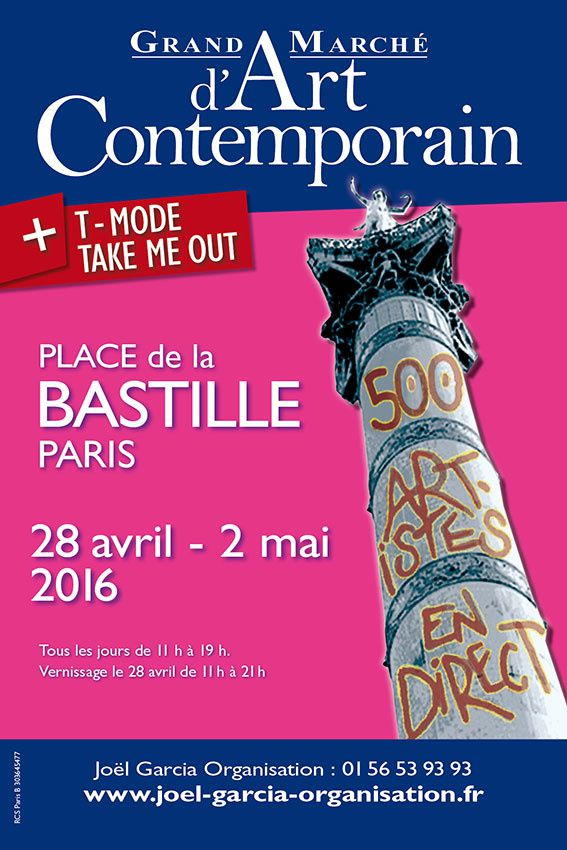 grand marché d'art contemporain-paris bastille-28 avril au 2 mai 2016.