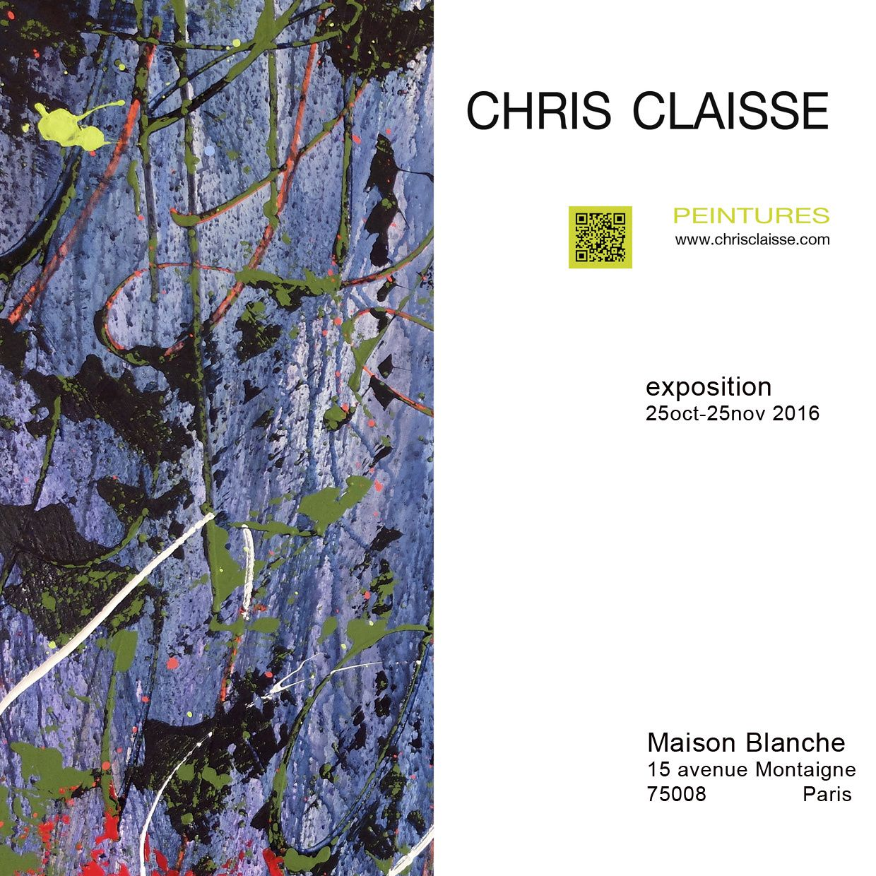 Chris Claisse-Maison Blanche Paris-expo oct 2016
