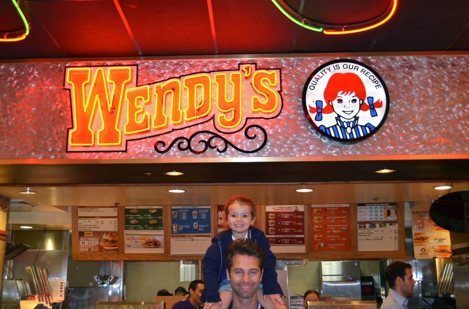 Wendy's le fast food préféré de Loulou !!!