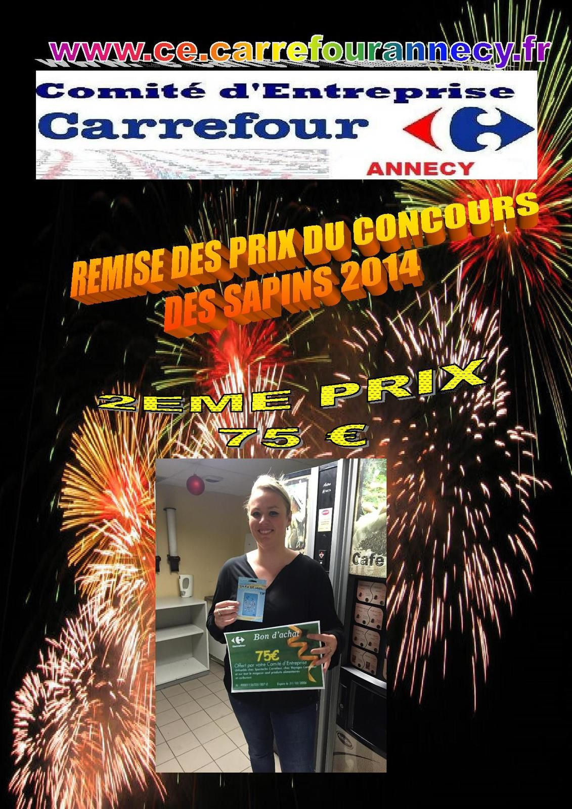 REMISE DES PRIX DU CONCOUR DES 3 PLUS BEAUX SAPINS 2014