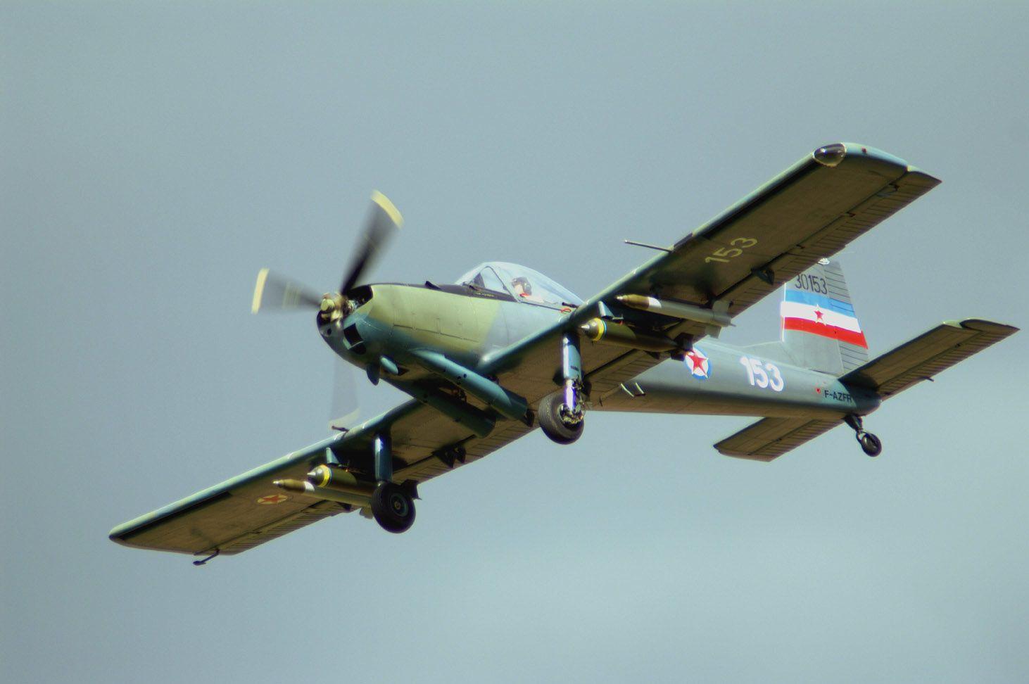 Le Soko J-20 Kraguj F-AZFR