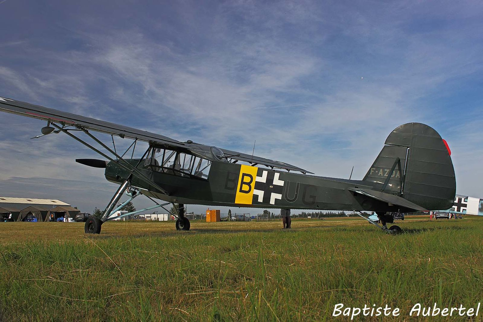 Le Fieseler 156 Storch F-AZDA (photo Baptiste Aubertel)