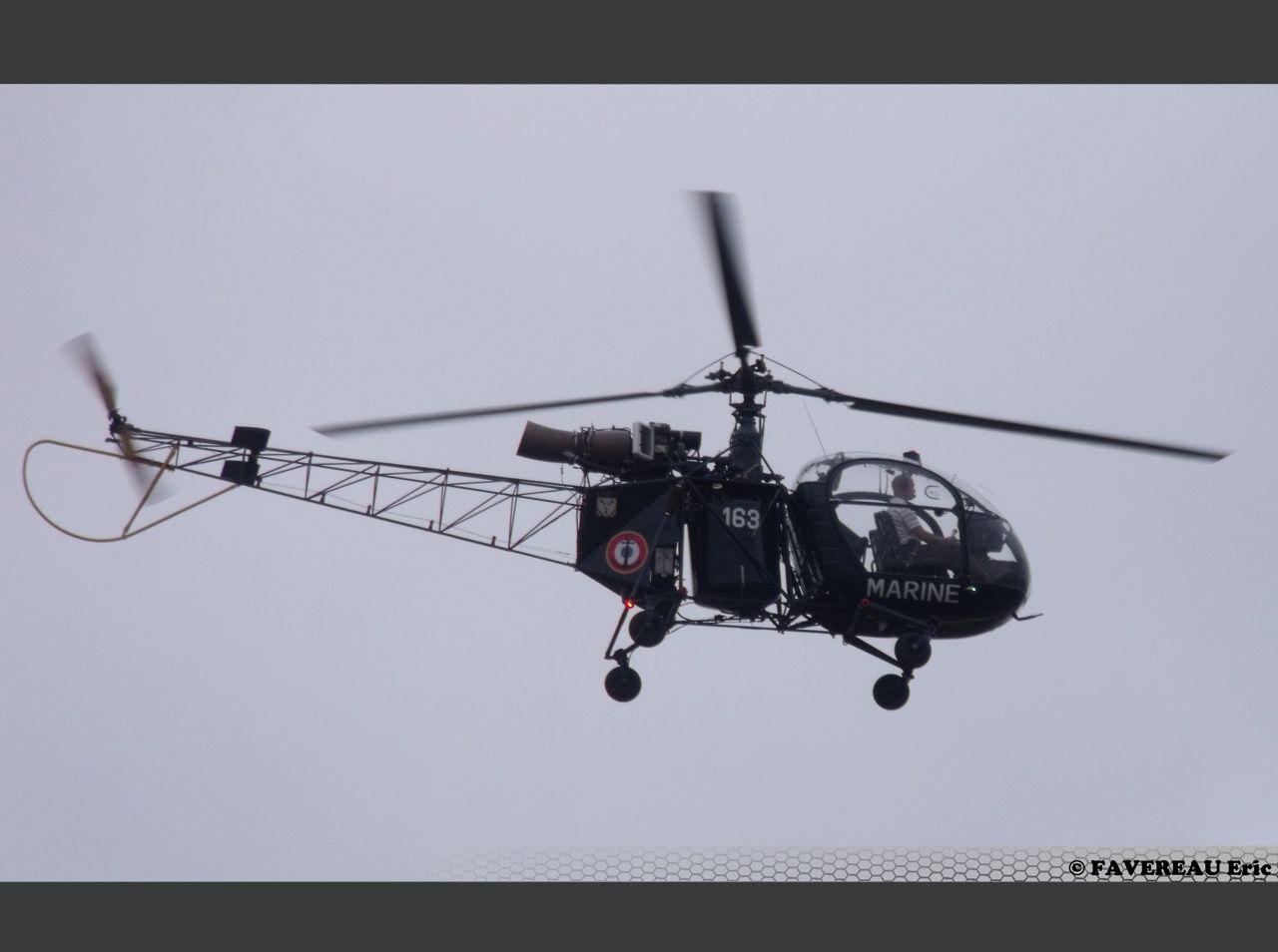 L'Aérospatiale SE-3130 Alouette II en version Marine F-AZYB, ici à Coulommiers (Eric Favereau)