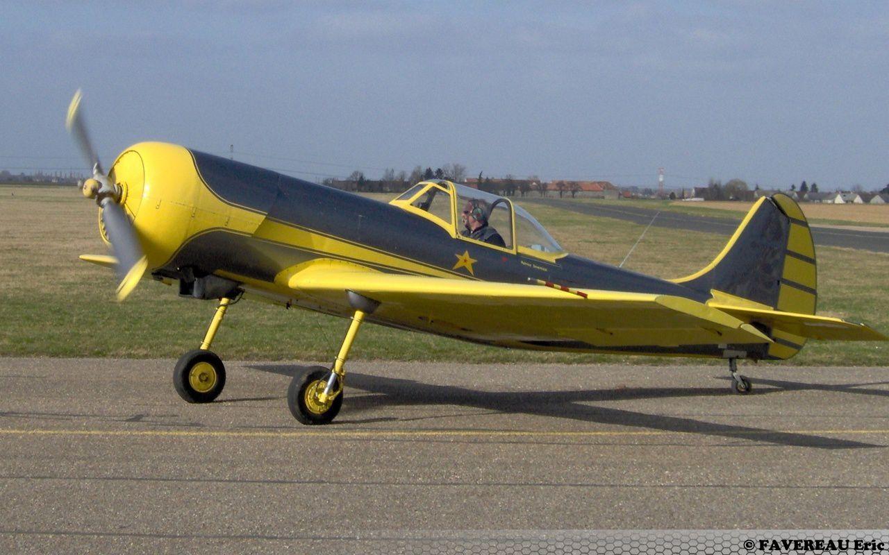 Le Yak 50 F-AZYP, ici à Nangis (photo Eric Favereau)