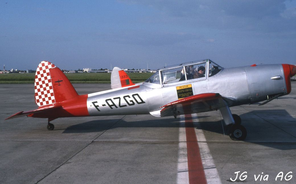 Le DHC-1 Chipmunck F-AZGQ (photo JG via AG)