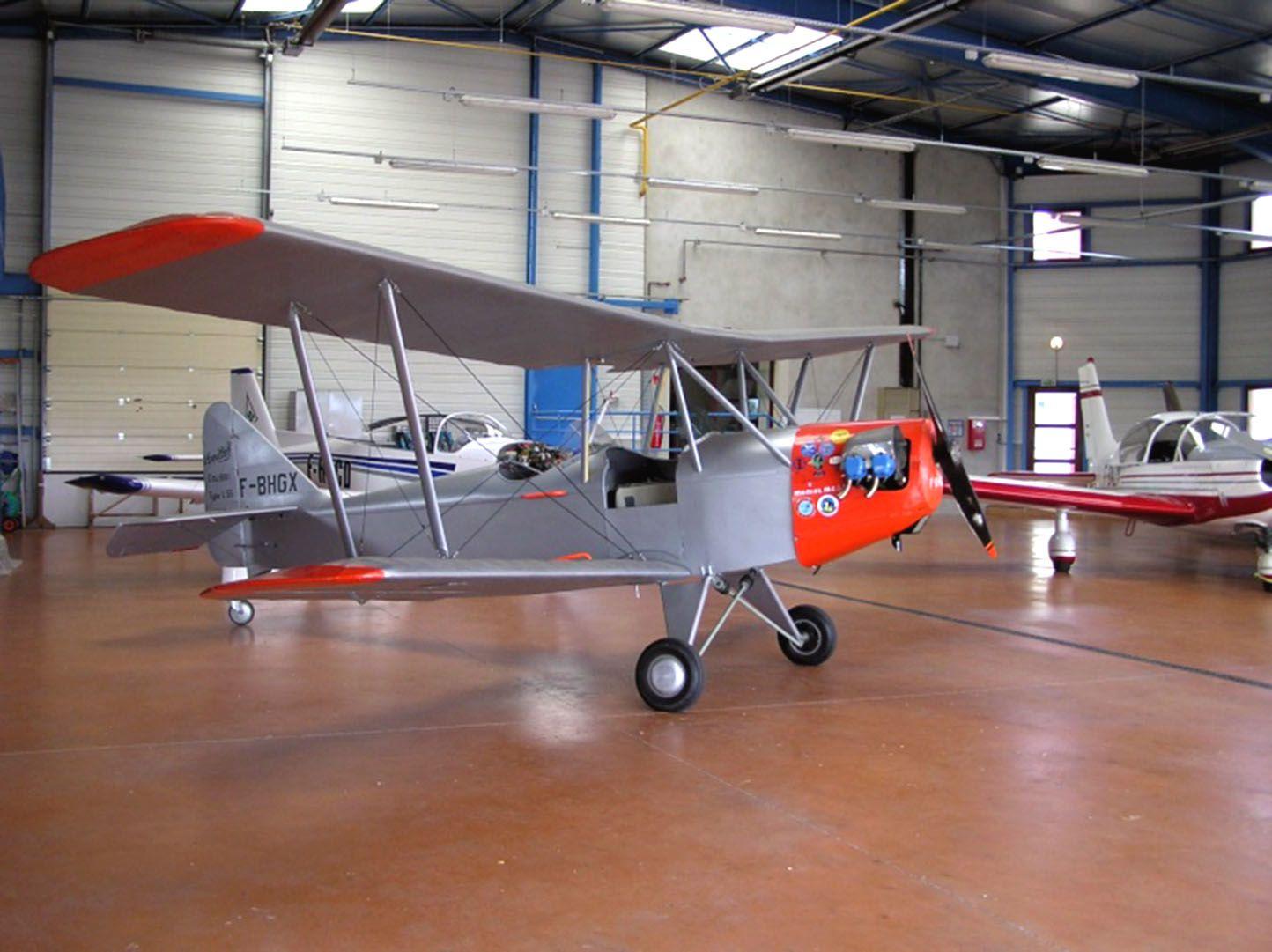 Le Leopoldoff L55 n°5 F-BHGX en état de vol à Issoire.