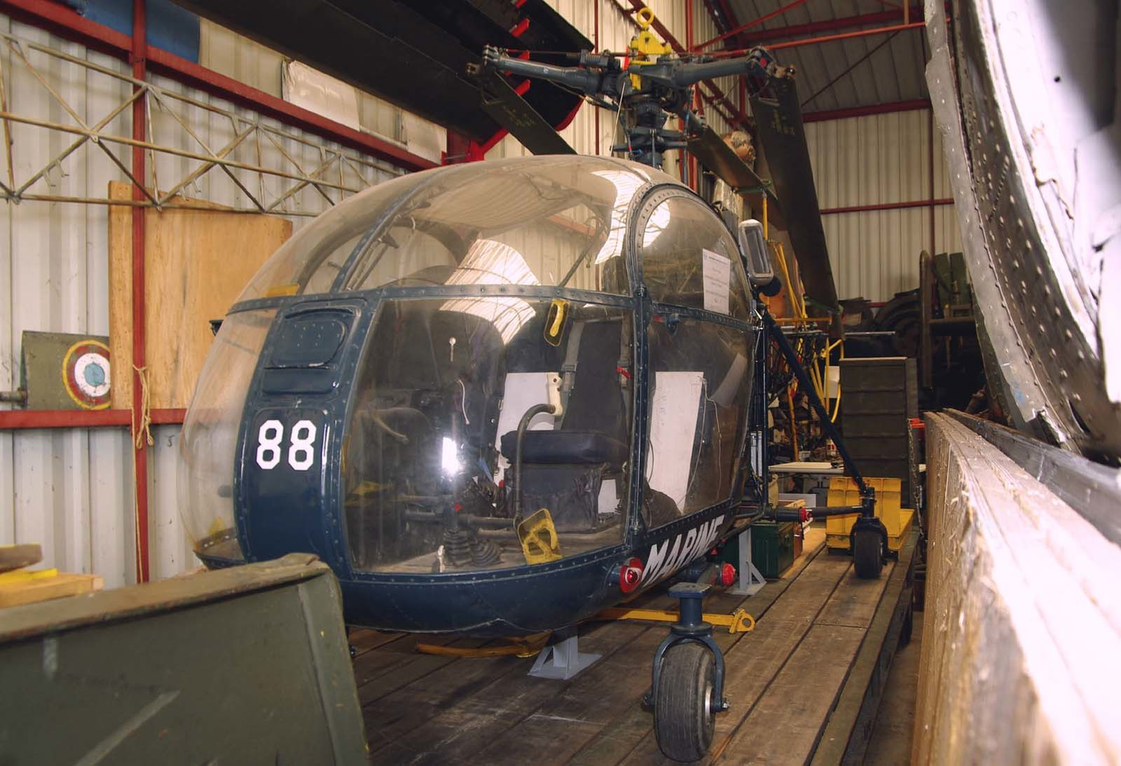 L'Aérospatiale SE-3130 Alouette II N°1488, version de la Marine Nationale.
