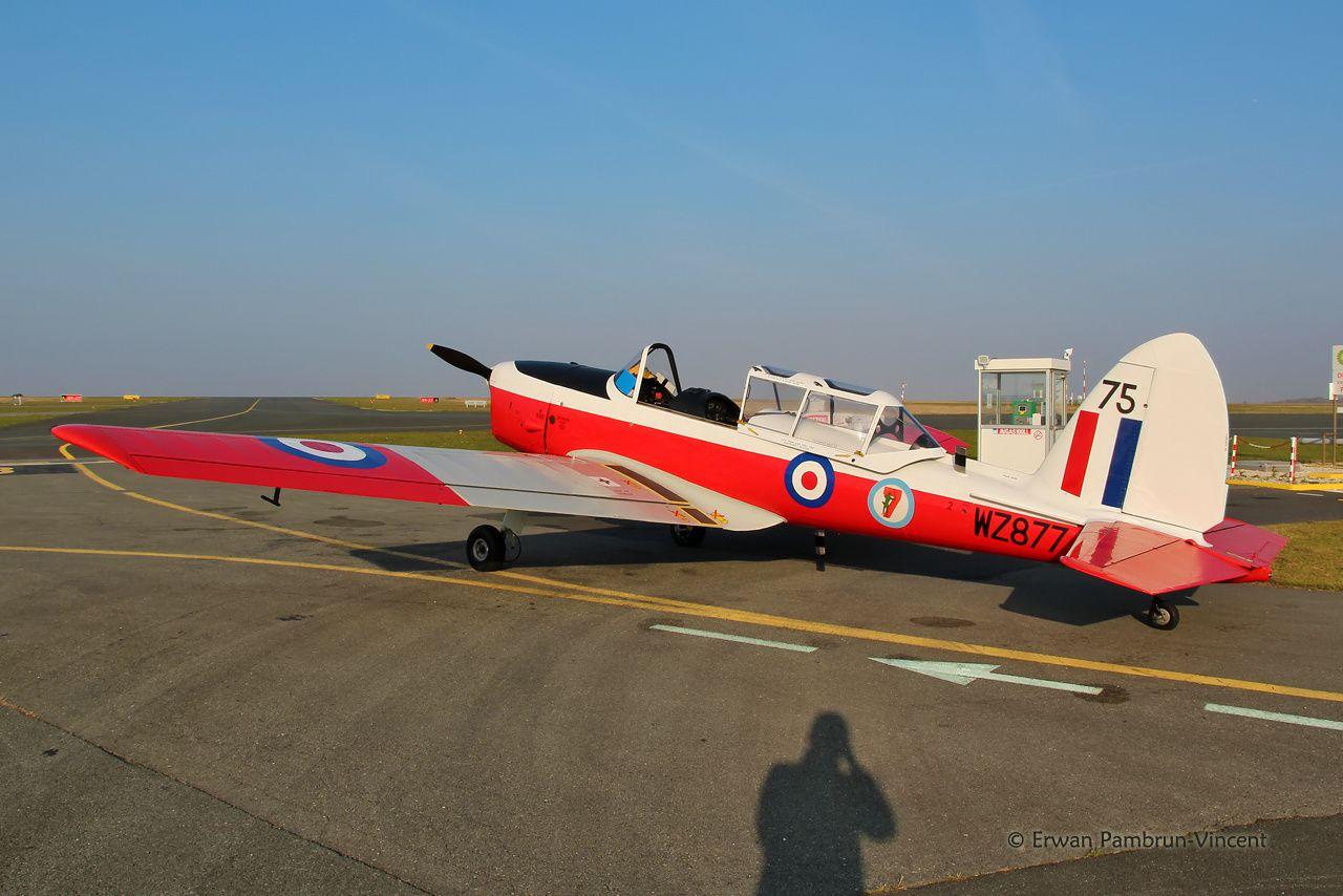 Le DHC-1 Chipmunck WZ877 F-AZLI à La Rochelle (Photo: Erwan Pambrun Vincent)