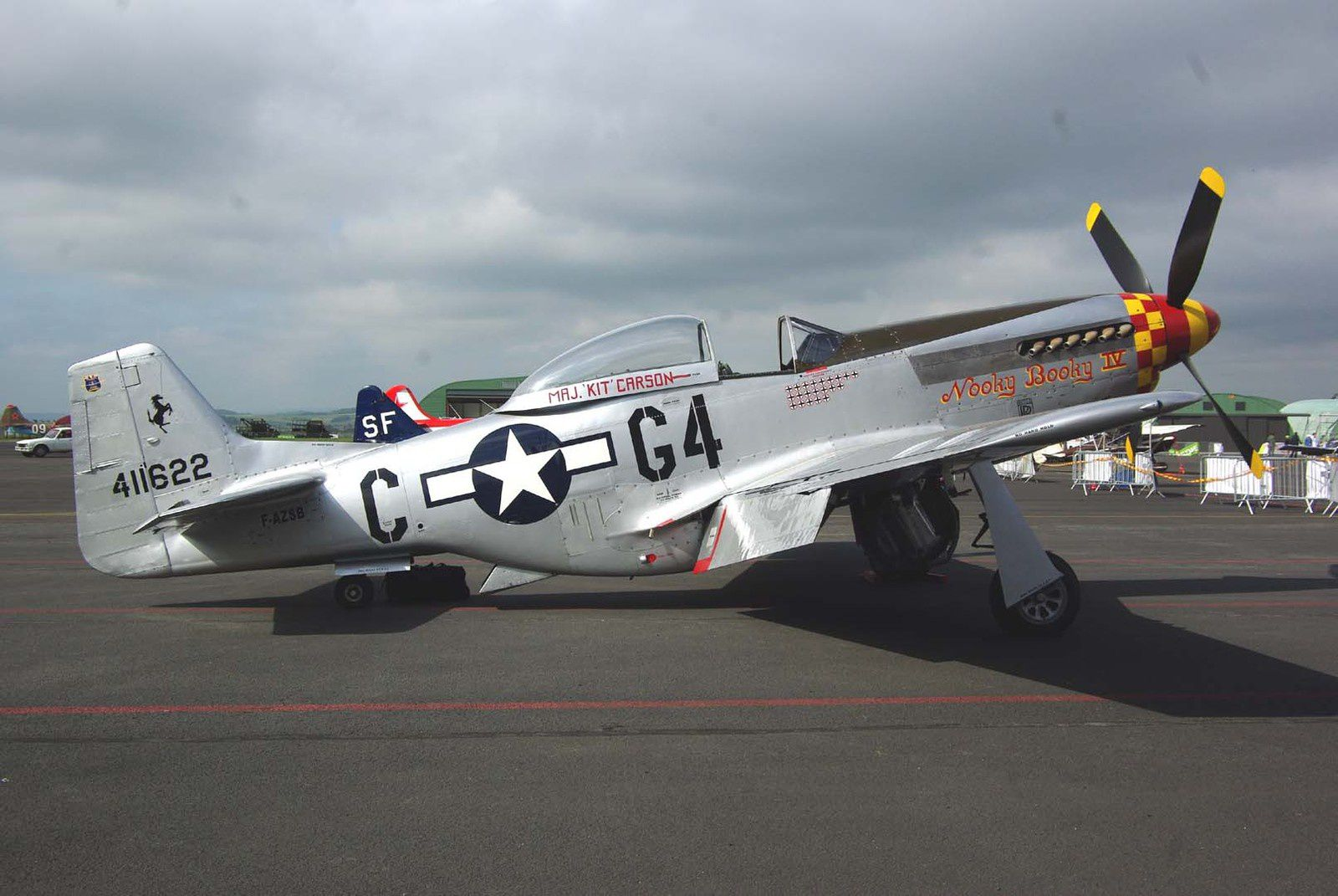 Le North American P-51D Mustang F-AZSB de France's Flying Warbirds.