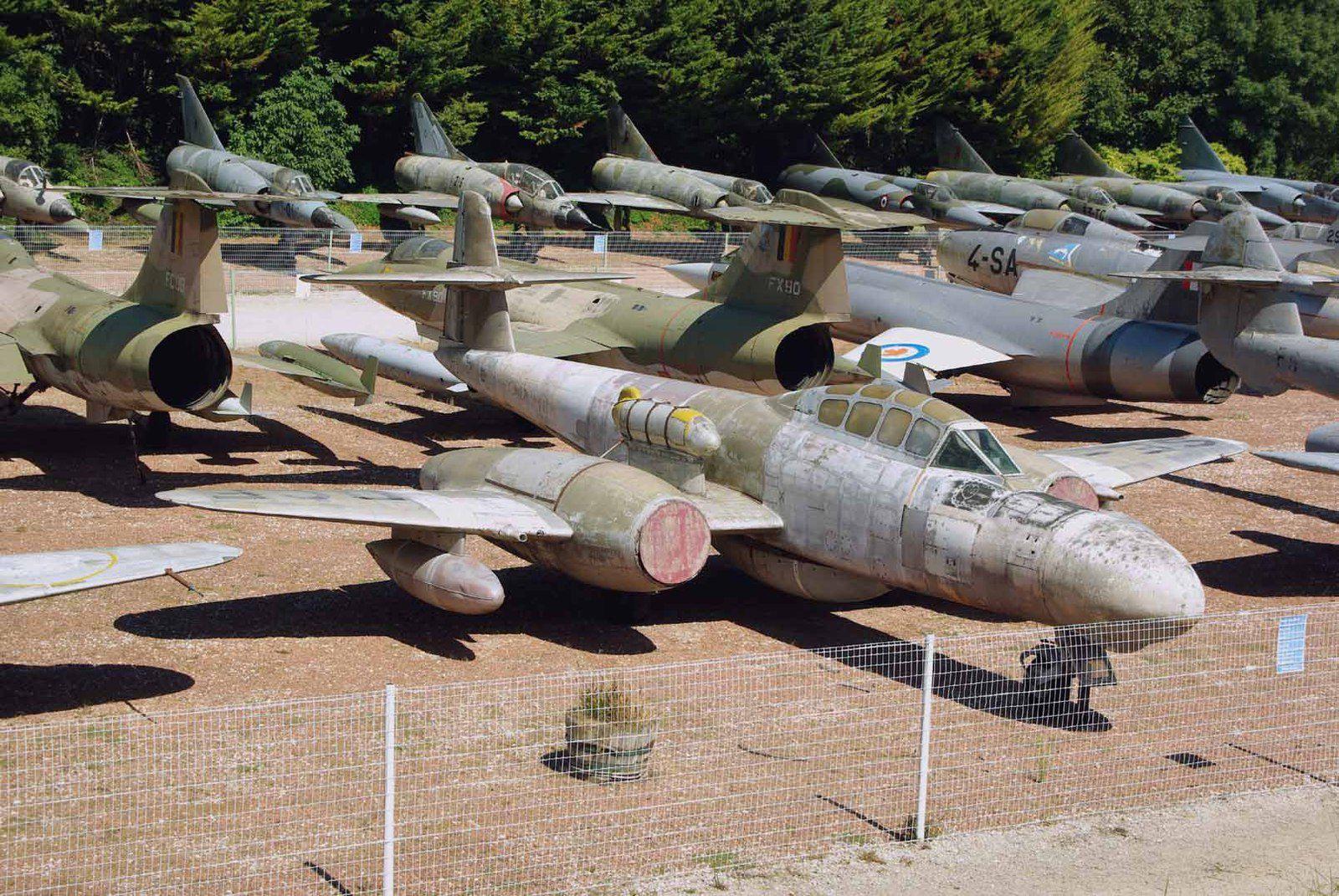 Le Gloster Meteor TT-20 immatriculé SE-DCF, ex WM395.