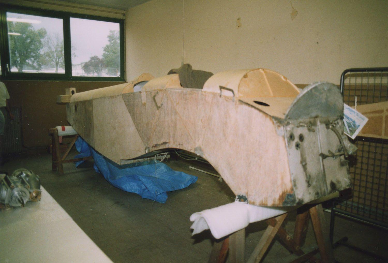 Le Mauboussin 121P Corsaire n° 110 F-AMPA propriété de David Gallezot, dont la restauration se partage entre le CAEA de Bordeaux et Metz.