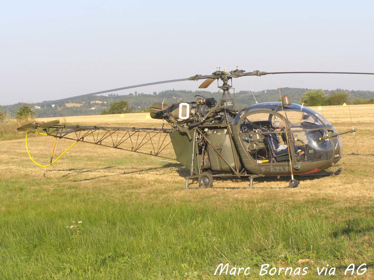 L'Aérospatiale SE-3130 Alouette II F-AZLR (Photo: Marc Bornas via AG).
