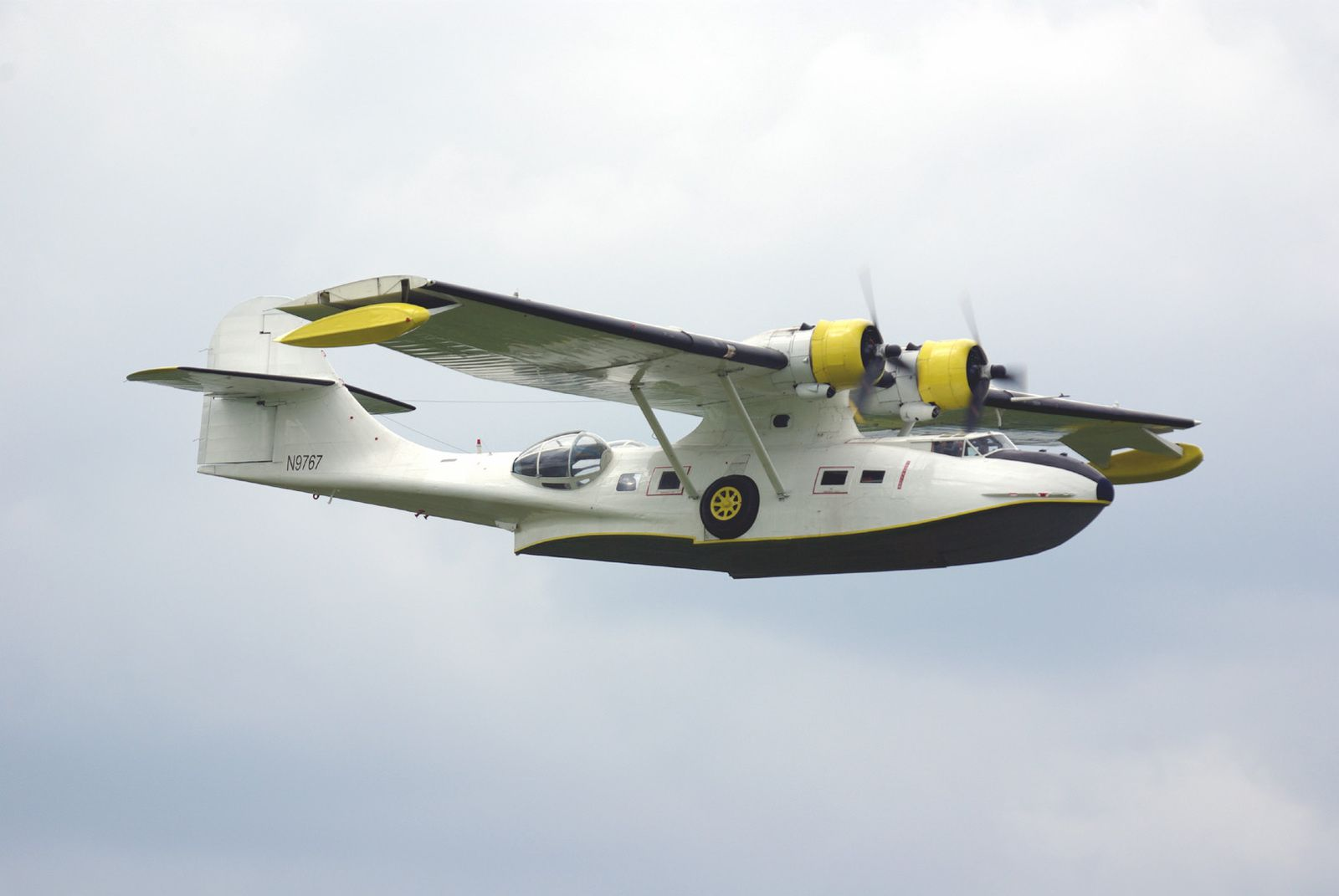 Le Consolidated PBY-5A Catalina N9767 de France's Flying Warbirds de Melun.
