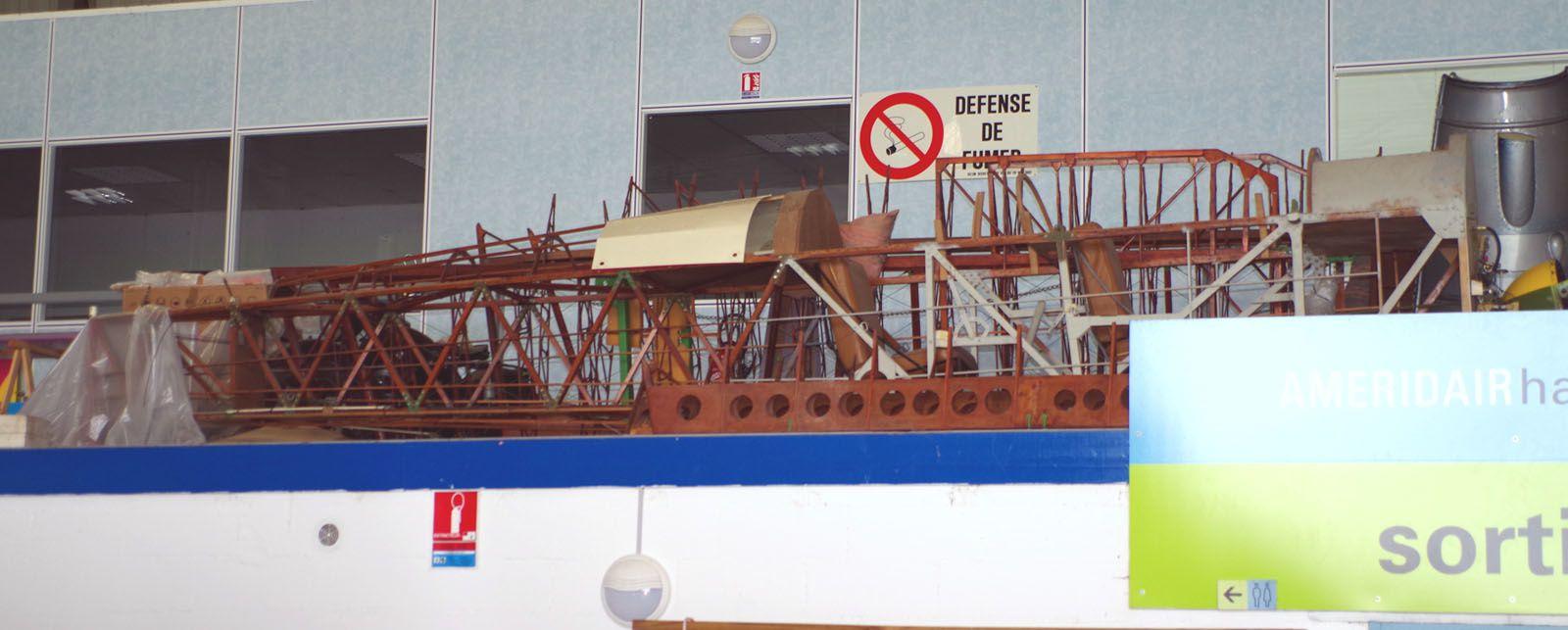 Le fuselage et les ailes du Luciole.