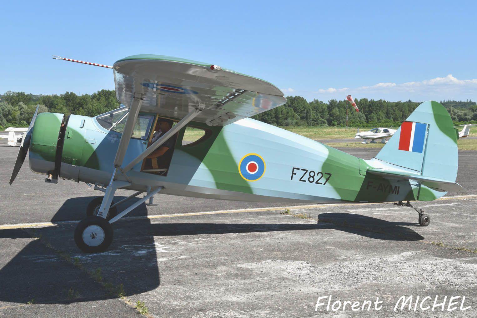 Le Fairchild 24 F-AYMI (ex HB-EMI) basé à Bourg-Ceyzeriat.  (Photo: Florent Michel)